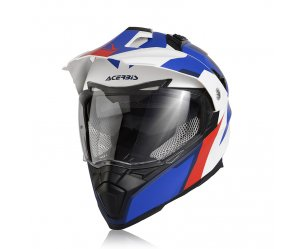 Κράνος Acerbis Flip FS-606 άσπρο/μπλε/κόκκινο