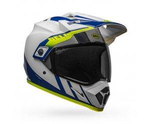 Κράνος Bell MX-9 Adventure Mips Dash WHITE/BLUE/HI-VIZ