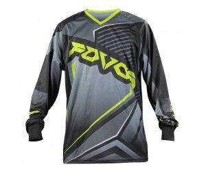 Μπλούζα MX Fovos Atlas II Black/Fluo yellow