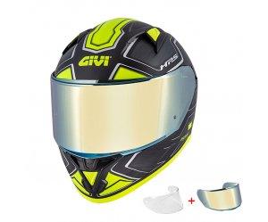 Κράνος Givi H50.6 Sport Deep Titan/Yellow + ζελατινα IRIDIUM