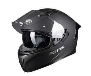 Κράνος Pilot Flipper-Fighter μαύρο ματ