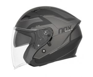 Κράνος Nox N127 Metro μαύρο/ασημί ματ