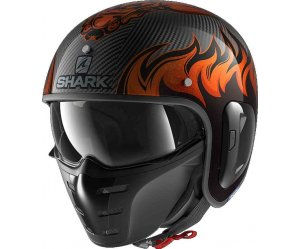 SHARK S-DRAK 2 Κράνος Carbon Dargon Doo Orange / Orange