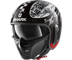 SHARK S-DRAK 2 Κράνος Tripp In KWR Black / White / Red
