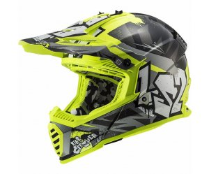 ΚΡΑΝΟΣ LS2 ΠΑΙΔΙΚΟ Fast Mini MX437J Crusher Black/H-V Yellow