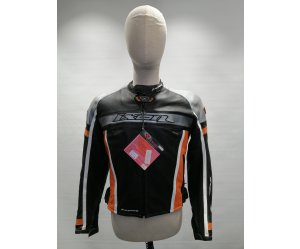 Μπουφάν Δερμάτινο IXON Lady Acrobatic Black/Orange/Silver