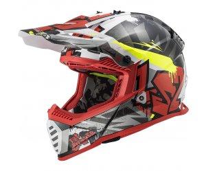 ΚΡΑΝΟΣ LS2 MX437 FAST EVO CRUSHER BLACK/RED