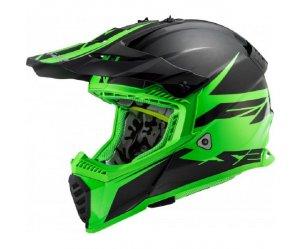 ΚΡΑΝΟΣ LS2 MX437 FAST EVO ROAR MATT BLACK/GREEN