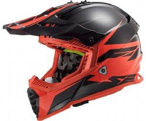 ΚΡΑΝΟΣ LS2 MX437 FAST EVO ROAR MATT BLACK/RED