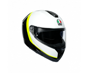 ΚΡΑΝΟΣ FLIP-UP AGV SPORTMODULAR MULTI E2205 - RAY CARBON/WHITE/YELLOW FLUO