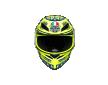 ΚΡΑΝΟΣ AGV K1 Winter Test 2015 ΚΙΤΡΙΝΟ ΜΠΛΕ
